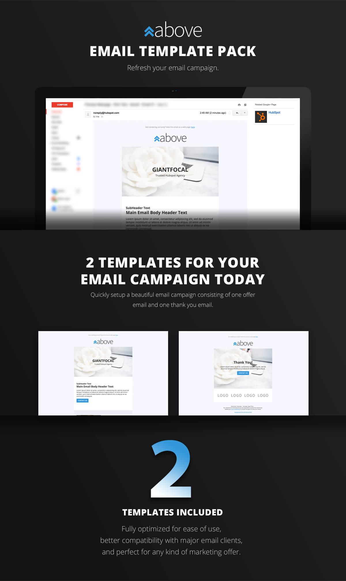 HubSpot B2B email template
