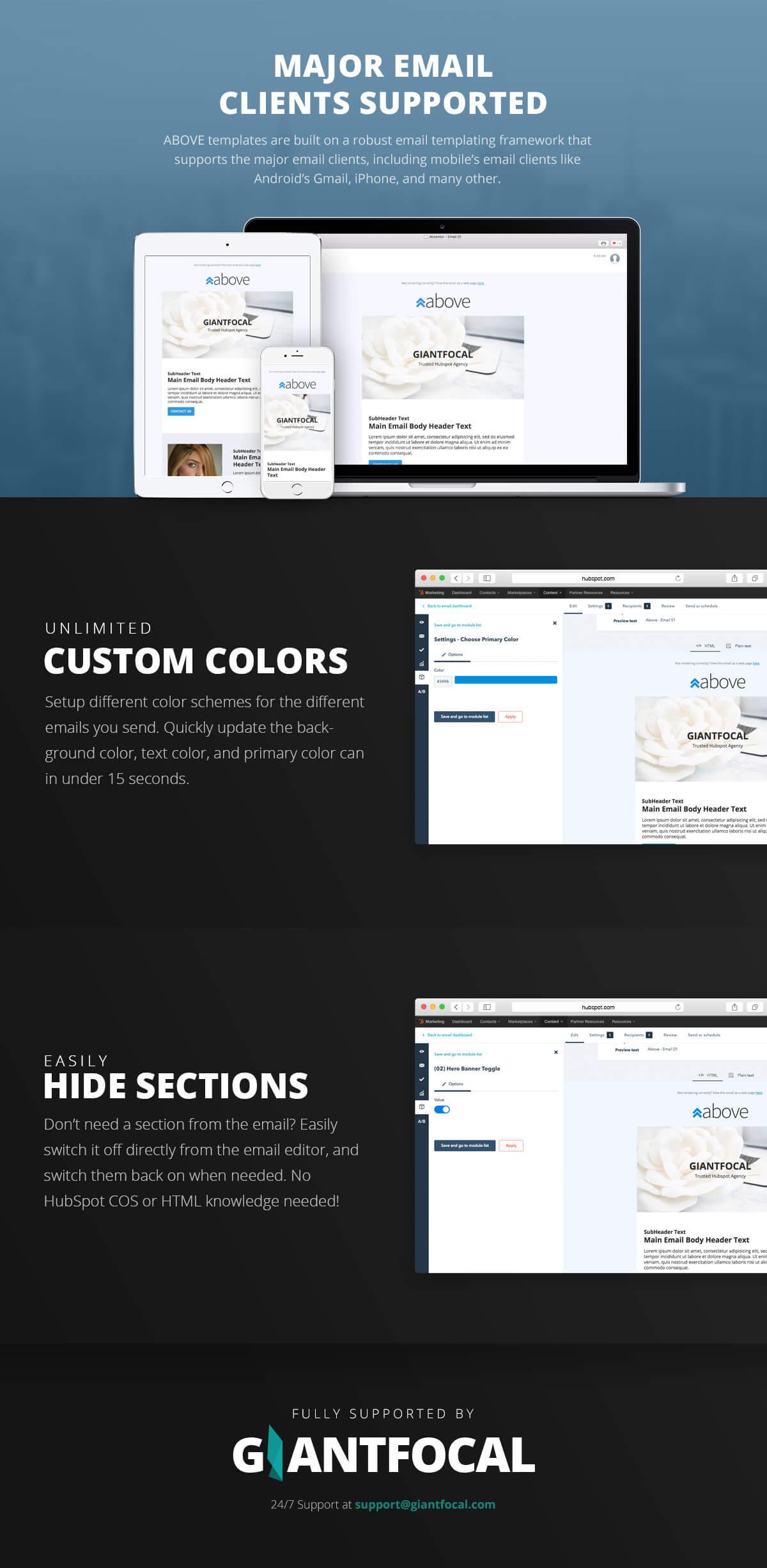 hubspot responsive email templates