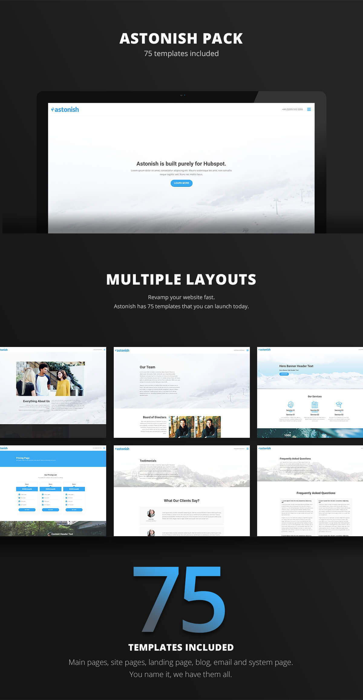 Astonish template pack hubspot website redesign shouldnt hard hubspot website redesign hubspot template demo maxwellsz