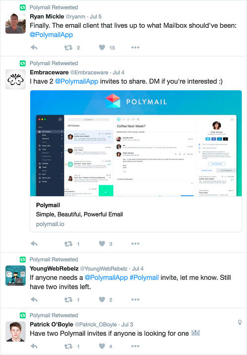 Polymail inbound marketing examples