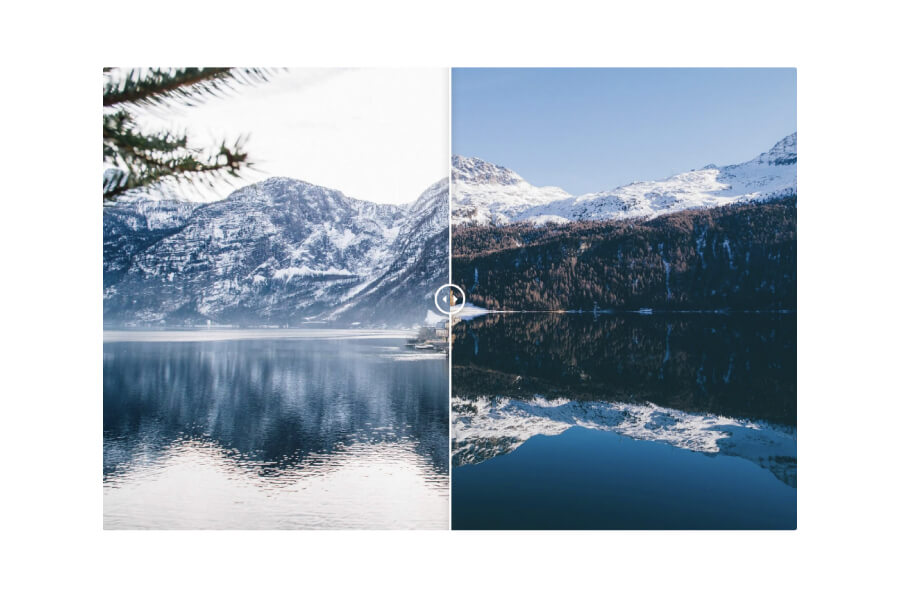 Before After Image Comparison Slider For HubSpot