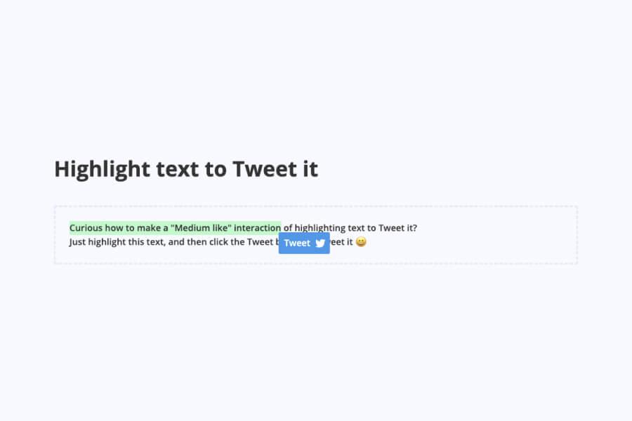 Highlight Text to Tweet for HubSpot