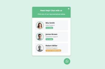 WhatsApp Chat for HubSpot