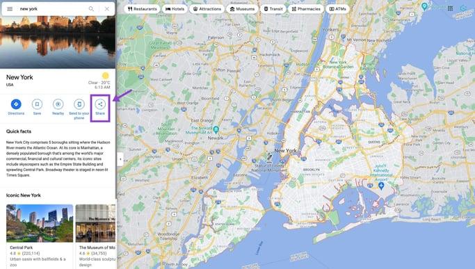 open-google-maps